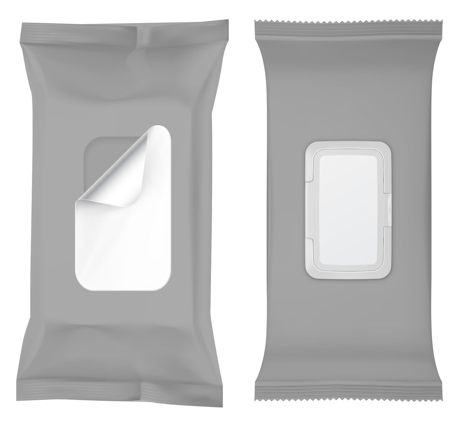 pouch openings gray