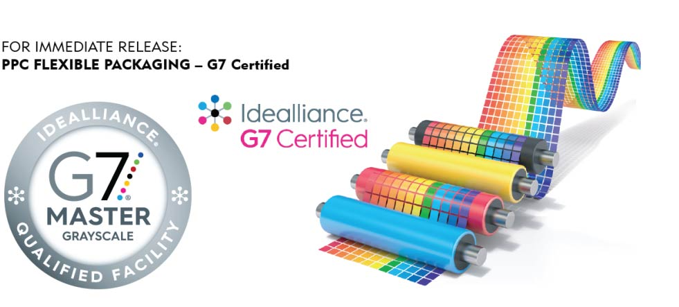 PPC Flexible Packaging is G7 Certified Idealliance Qualified 1