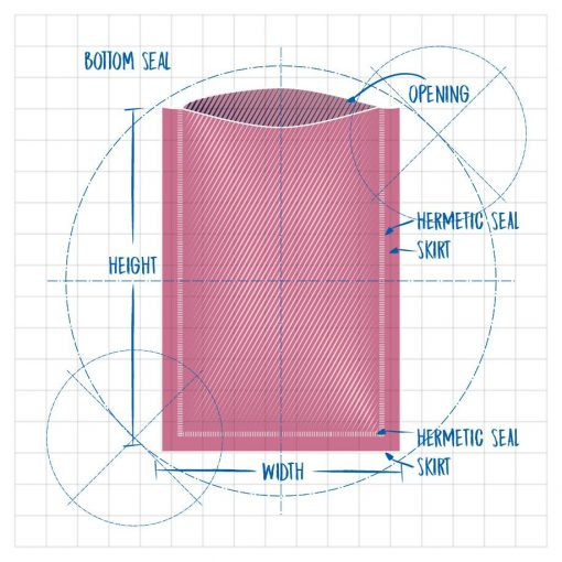 Precision Stat Die Line Bottom Seal Opening Hermetic Seal Skirt Height Hermetic Seal Skirt Width