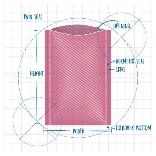 Precision Stat Die Line Twin Seal Opening Hermetic Seal Skirt Height Width