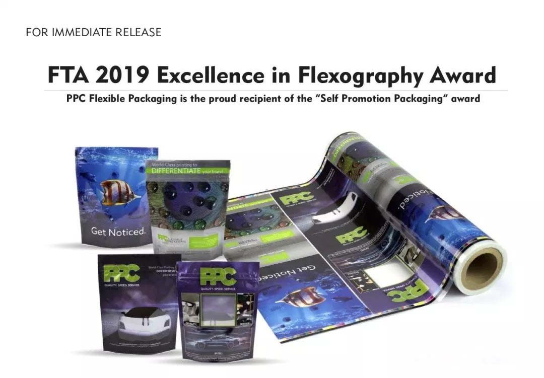 """PPC Flexible Packaging ™ is the proud recipient of the """"Self Promotion Packaging"""" award"""