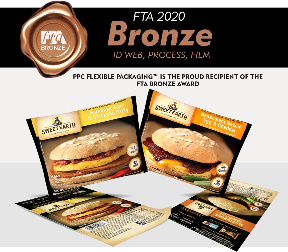 PPC FLEXIBLE PACKAGING™ IS THE PROUD RECIPIENT OF THE FTA BRONZE AWARD