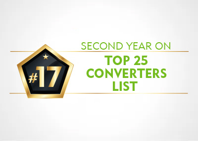 PPC FLEXIBLE PACKAGING™ ANNOUNCES SECOND YEAR ON TOP 25 CONVERTERS LIST